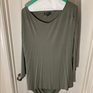 Tunic with back center cut out